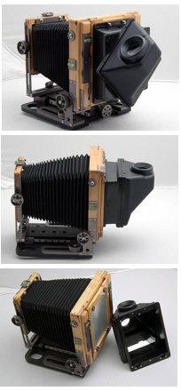 Folding Monocular Magnifying Reflex Viewer CHAMONIX 4x5 Camera Accessory